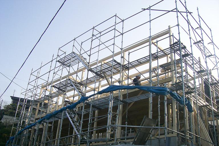 新築足場・改修足場工事の画像1